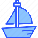 boat, ocean, sea, vacation, yacht icon