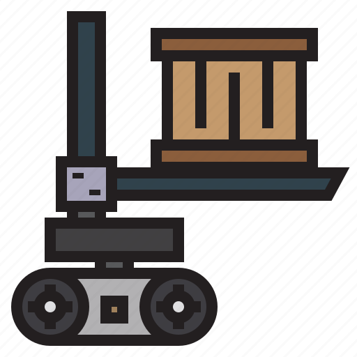 factory, industry, machine, robot, transport icon