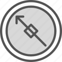 arrow, direction, location icon