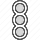 cars, city, road, stoplights icon
