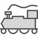 oldtrain, railroad, transport icon