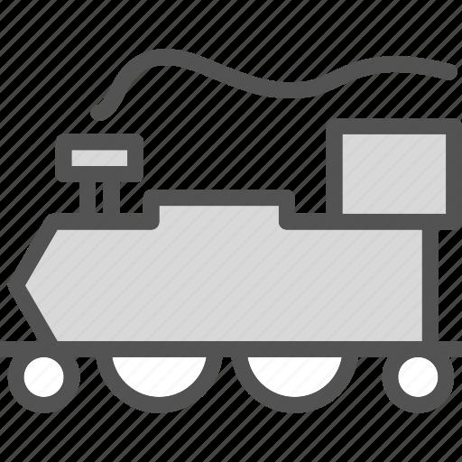 oldtrain, railroad, transport icon