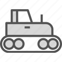 build, heavy, tractor, work icon