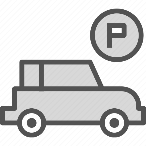 car, parking, place, schedule, time, watch icon