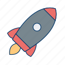 launch, launcher, rocket, satellite, space, spaceship icon