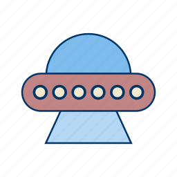 satellite, space ship, ufo icon