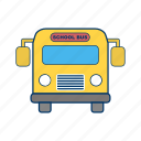 bus, heavy, school, schoolbus, transport, travel, truck icon
