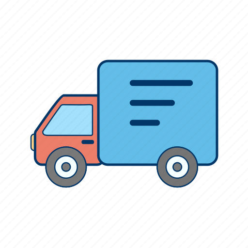 delivery truck, truck, van, vehicle icon