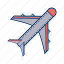 aeroplane, aircraft, airplane icon