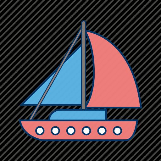 boat, sail boat, ship, yacht icon