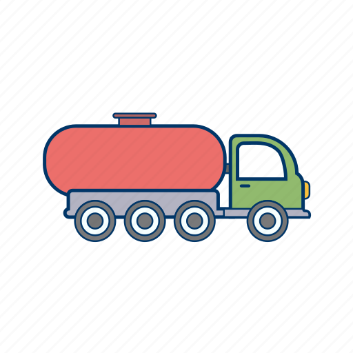 oil tank, oil tanker, truck icon