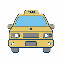 cab, taxi, yellow icon