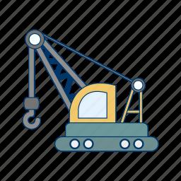 construction, crane, machine icon
