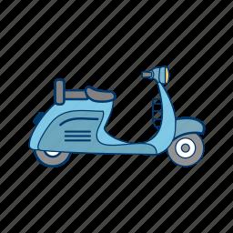 bike, motor, scooter, vespa icon