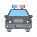car, cop, patrol, police car icon