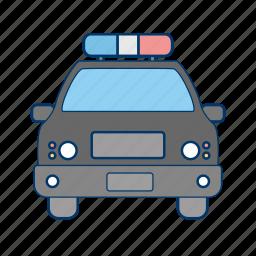 car, cop, patrol, police car icon