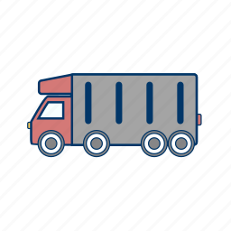 cargo, delivery truck, tipper truck, truck icon