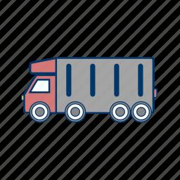 cargo, tipper truck, truck icon