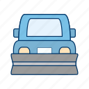 plowing, snow plow, truck icon