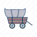 advanture, cart, cowboy, historical, pioneer, wagon, wheel icon