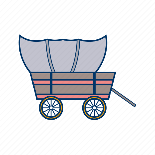 camp, cart, wagon, wheel icon