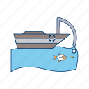 boat, fishing, ship icon