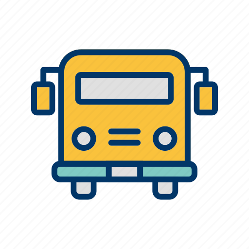 bus, school bus, vehicle icon