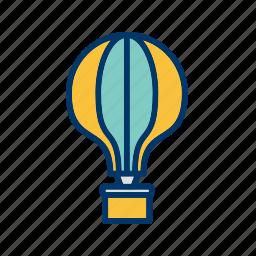 air balloon, balloon, fly, travel icon