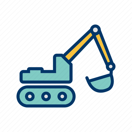 excavator, machinery, work icon