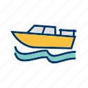 boat, boating, fishing, sail, ship, yacht, yachting icon