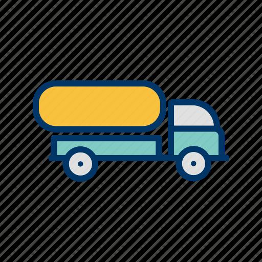 oil tank, oil tanker, tank truck icon