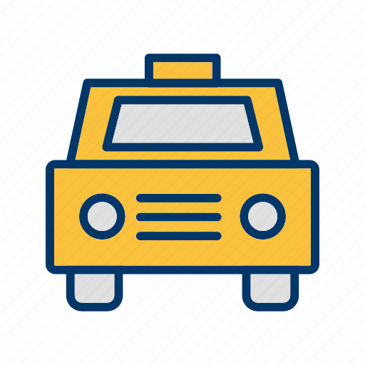 cab, car, taxi, vehicle, yellow icon