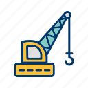 construction, crane, machine icon