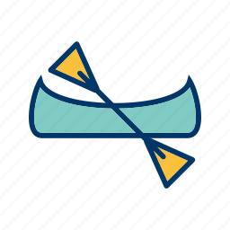 boat, canoe, canoeing, ship icon