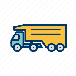 cargo, delivering, delivery, heavy, tippertruck, trailer, truck icon