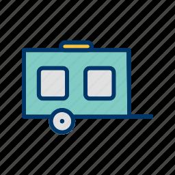 camp, cart, wagon, wheel icon