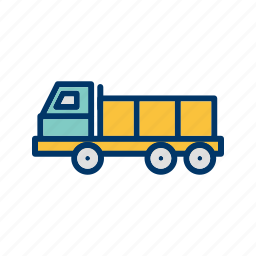 construction, dumper, heavy, truck icon