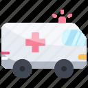 ambulance, car, emergency, rescue, transport icon