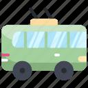 bus, public, transport, trolley, vehicle