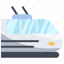electric, rail, railway, station, train, transport icon