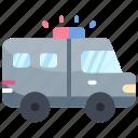 car, police, swat, van, vehicle icon