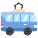 city, train, tram, transport, travel icon