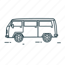 car, minibus, ride, transport, travel, vehicle icon