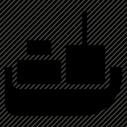 cargo, public, ship, transport, transportation, travel, vehical icon