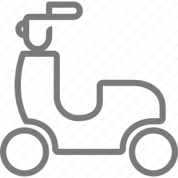 motorcycle, transport icon