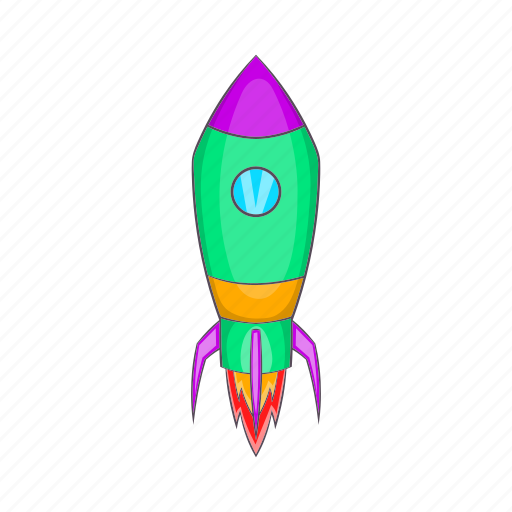 cartoon, future, rocket, science, space, spaceship, technology icon