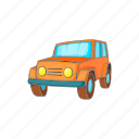 car, cartoon, jeep, transport, transportation, vehicle, wheel icon