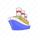 boat, cartoon, holiday, sea, ship, sport, water icon