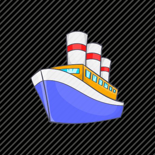 boat, cartoon, holiday, sea, ship, sport, water icon