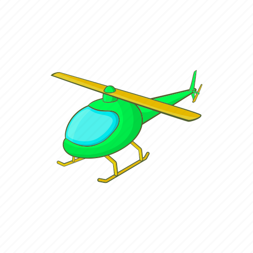 air, aircraft, aviation, cartoon, flight, helicopter, transport icon